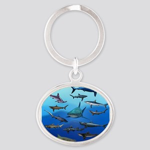 Shark Gathering Keychains